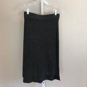 Madewell Grey Wool Blend Pencil Skirt